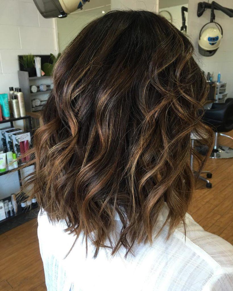 Medium Highlights Hairstyles trends 2020 dark brown 3