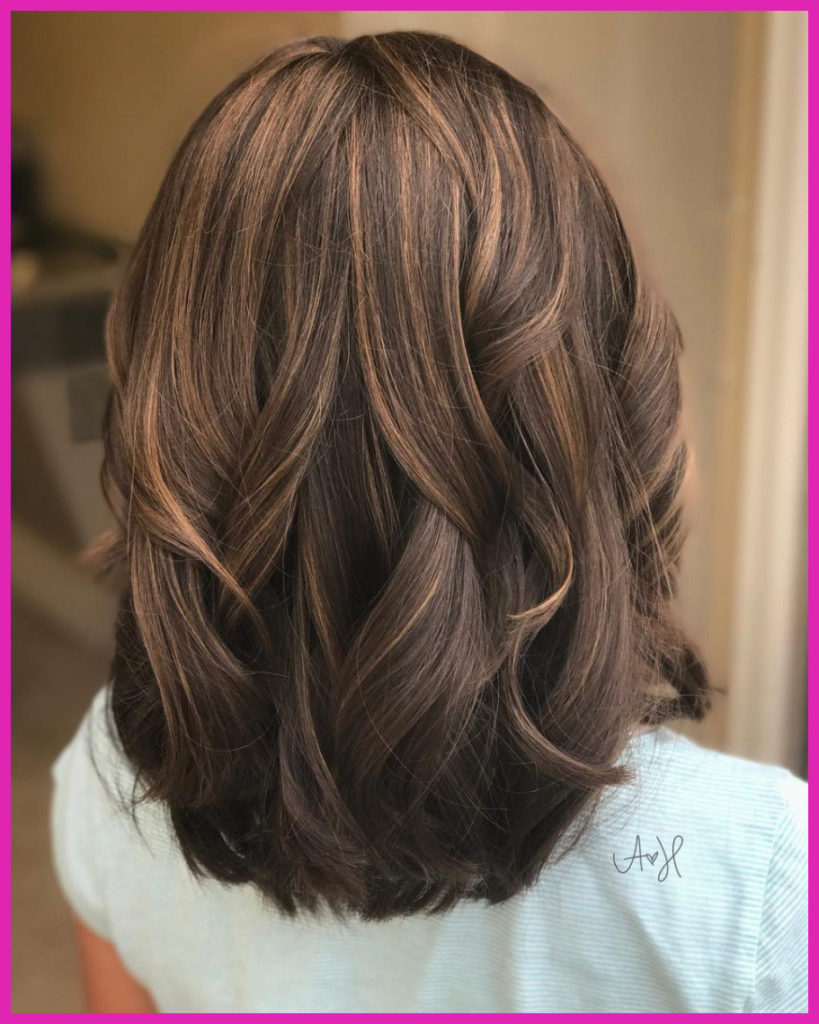 Medium Highlights Hairstyles trends 2020 rosewood brown color 3