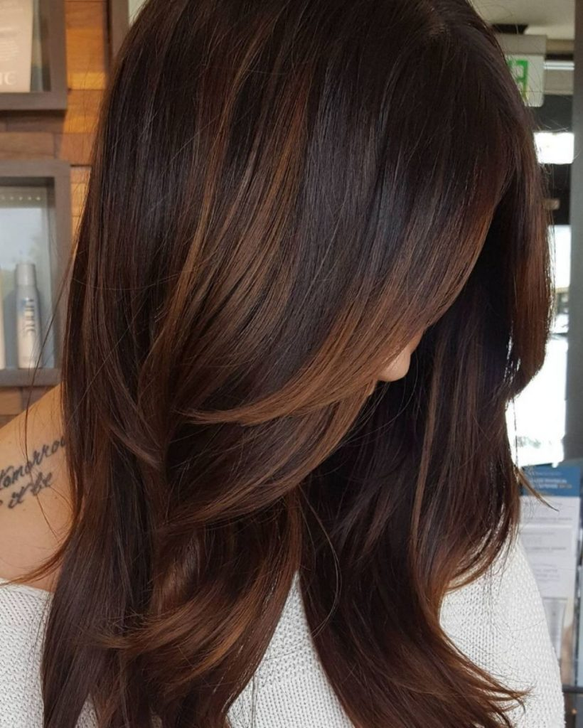 Medium Highlights Hairstyles trends 2020 subtle brown highlights 3