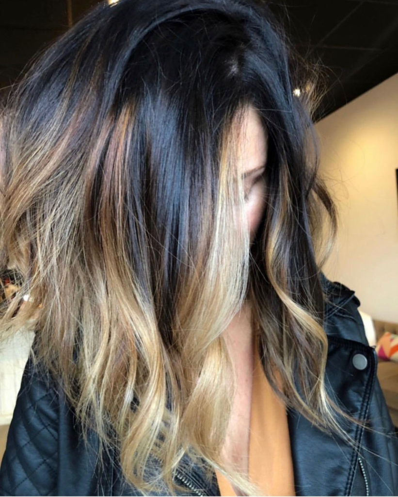 Medium Ombre Hairstyles trends 2020 Black to Soft Blonde 1