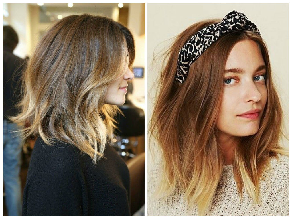 Medium Ombre Hairstyles trends 2020 caramel and blonde colors