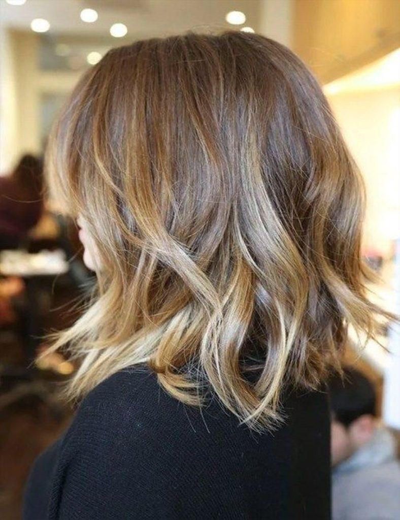 Medium Ombre Hairstyles trends 2020 caramel highlights 2 1
