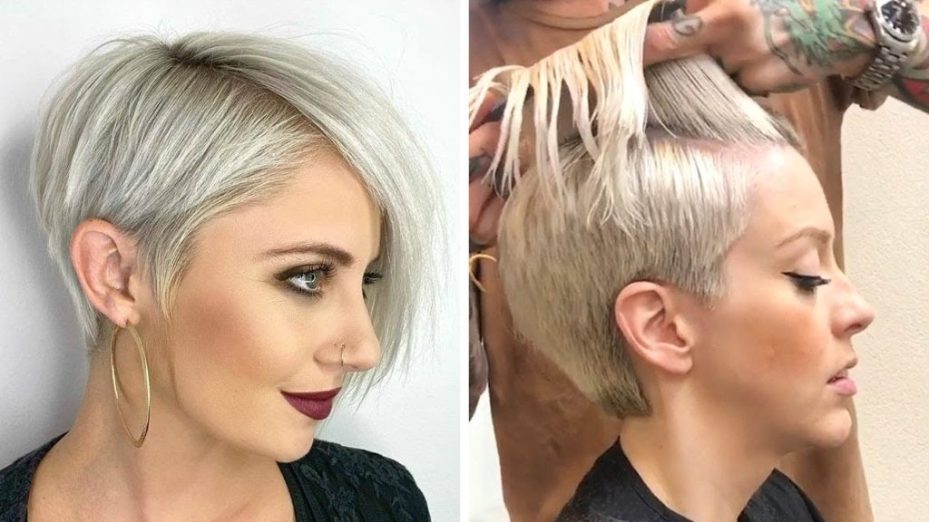 Medium Pixie Haircuts trends 2020 Ash gray Pixie cut 4