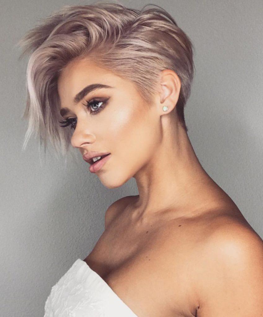 Medium Pixie Haircuts trends 2020 Ash pink 1