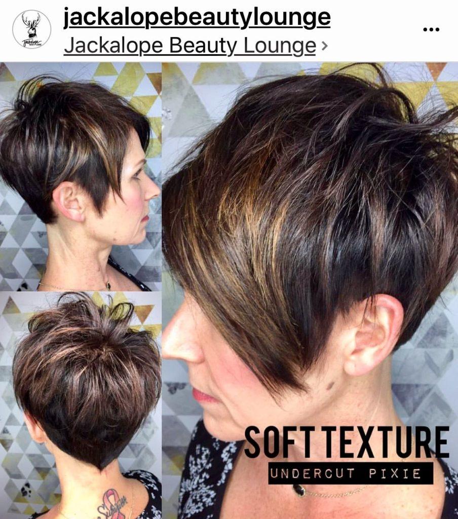 Medium Pixie Haircuts trends 2020 Brown balayage 3