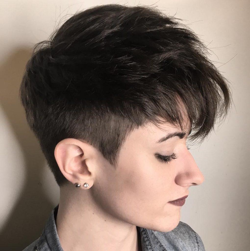 Medium Pixie Haircuts trends 2020 Dark Black 3