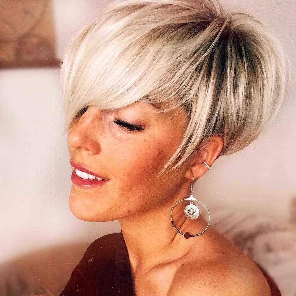 Medium Pixie Haircuts trends 2020 Gray 3