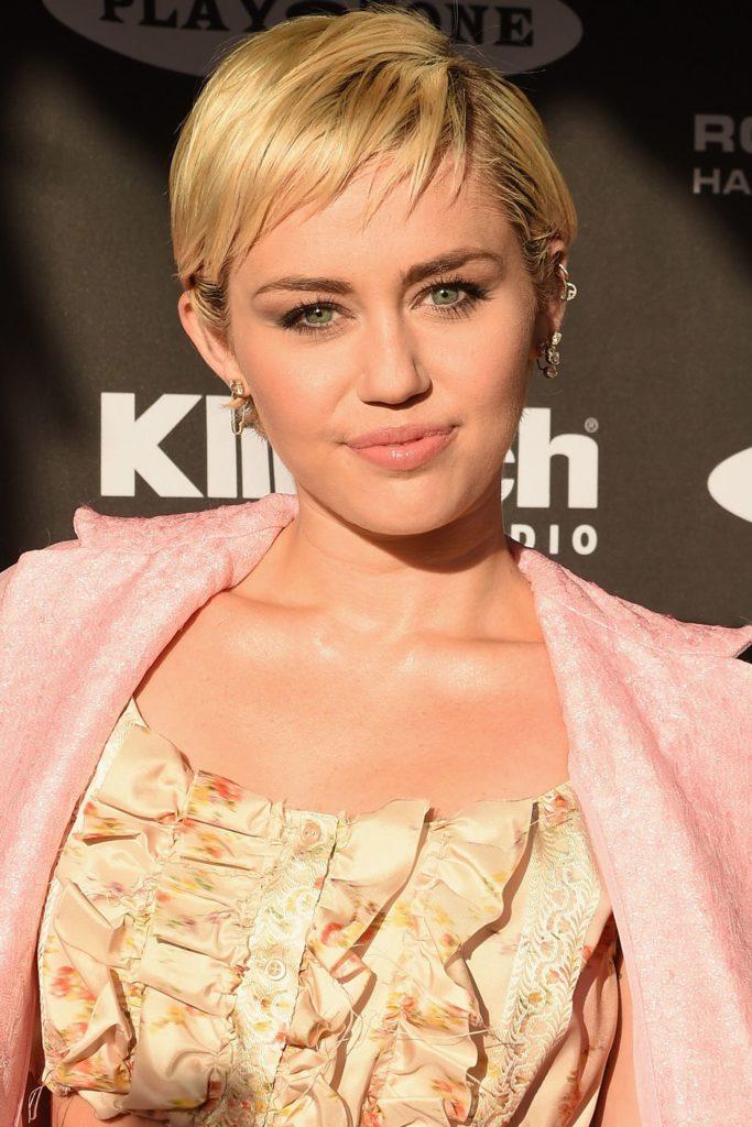 Medium Pixie Haircuts trends 2020 Miley cyrus blonde pixie