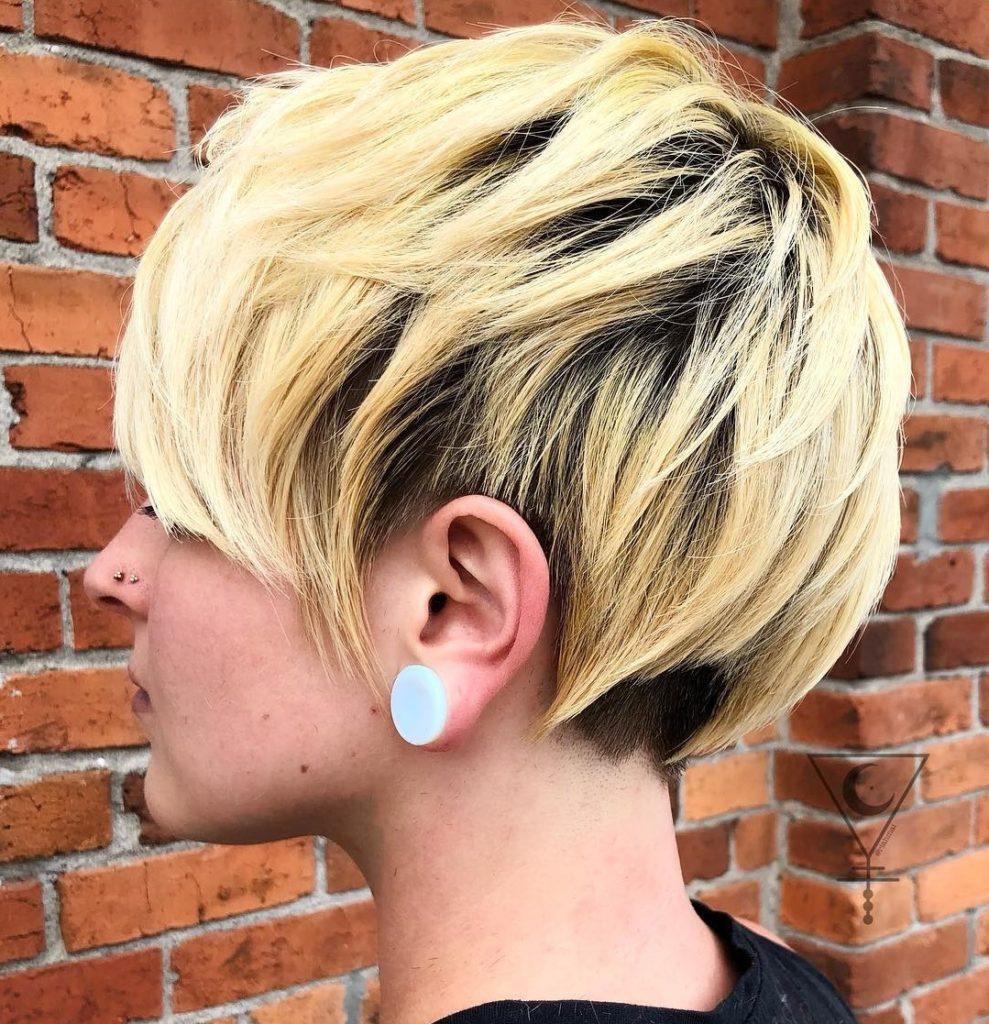 Medium Pixie Haircuts trends 2020 Platinum blonde 4