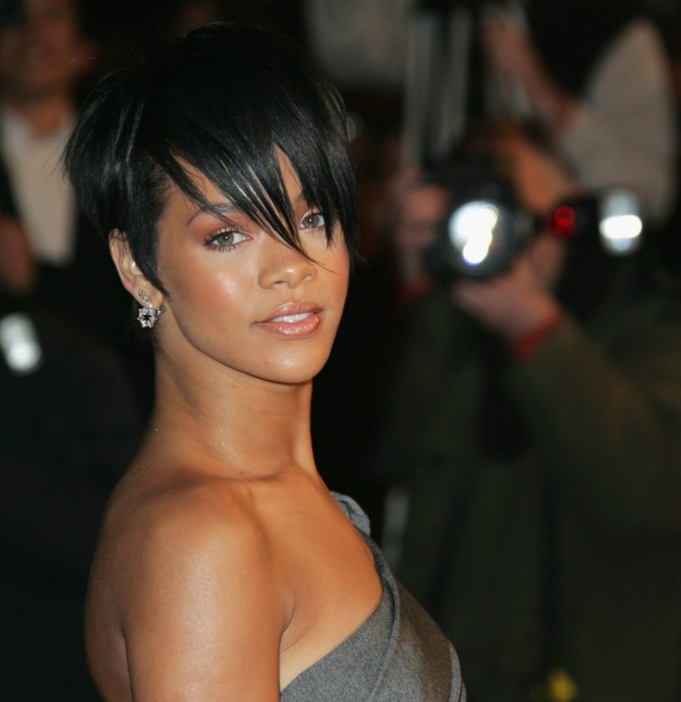 Medium Pixie Haircuts trends 2020 Rihanna pixie cut black color hair 5