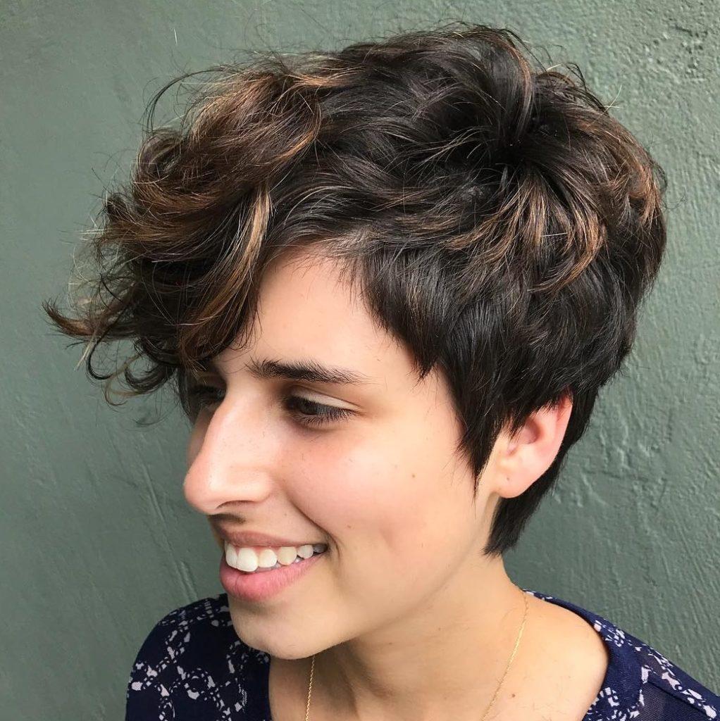 Medium Pixie Haircuts trends 2020 brown pixie cut 3