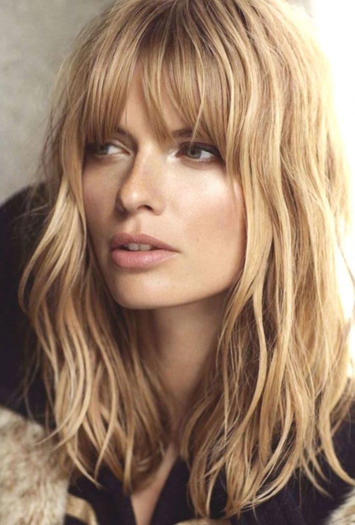Medium Shag Haircuts trends 2020 Blonde highlights with bang