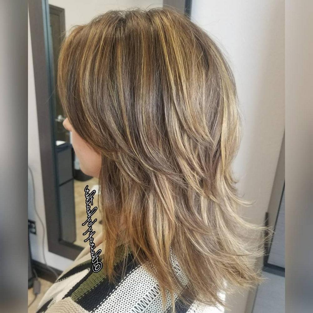 Medium Shag Haircuts trends 2020 Honey blonde color choppy layers