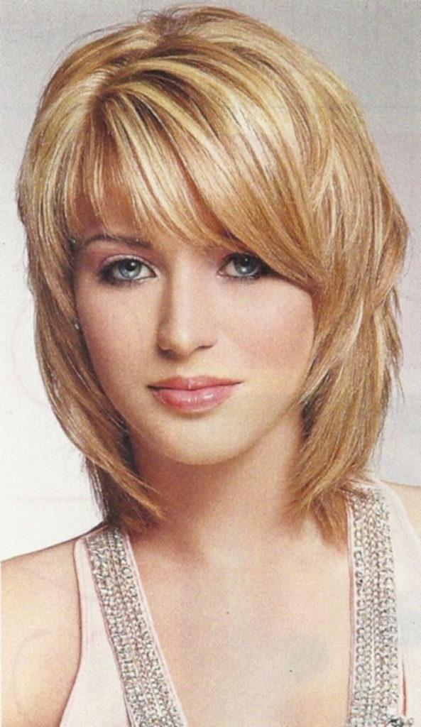 Medium Shag Haircuts trends 2020 Light ash blonde with bang