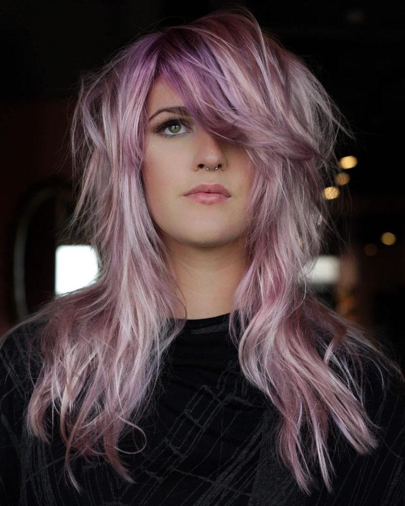 Medium Shag Haircuts trends 2020 ash pink