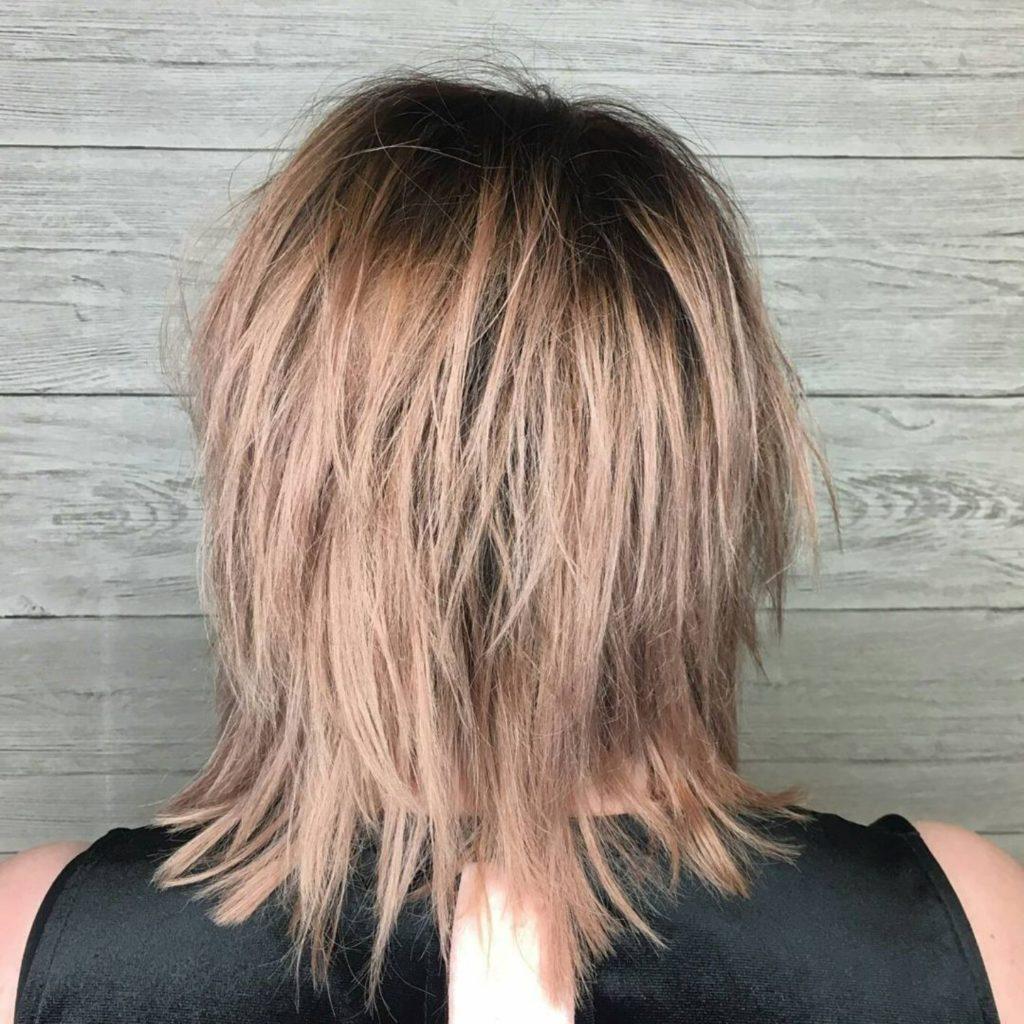 Medium Shag Haircuts trends 2020 caramel highlights