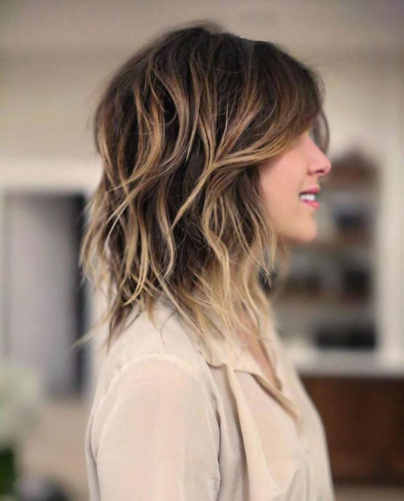 Medium Shag Haircuts trends 2020 caramel honey highlights