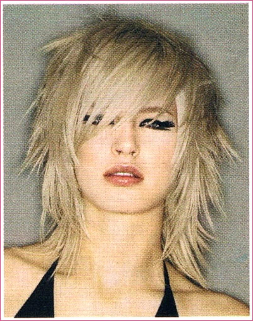 Medium Shag Haircuts trends 2020 messy blonde choppy layers