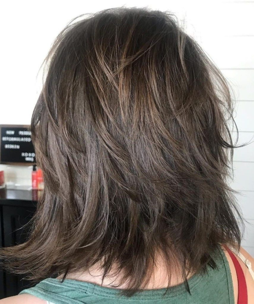 Medium Shag Haircuts trends 2020 messy brunette