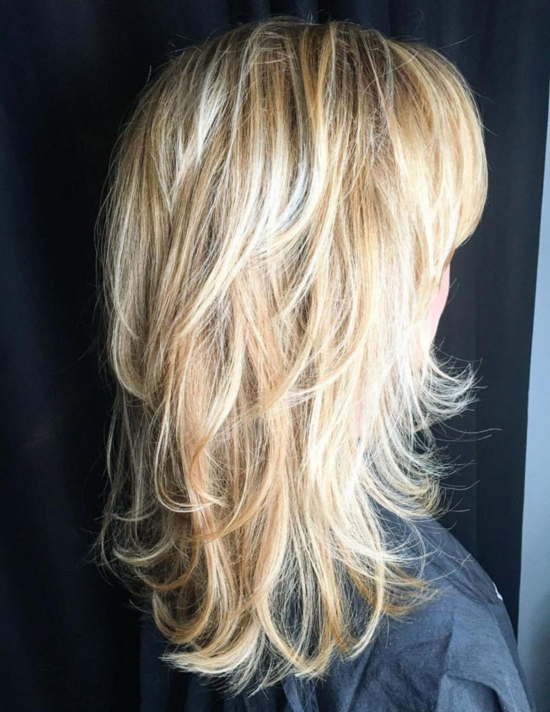 Medium Shag Haircuts trends 2020 platinum blonde choppy layers