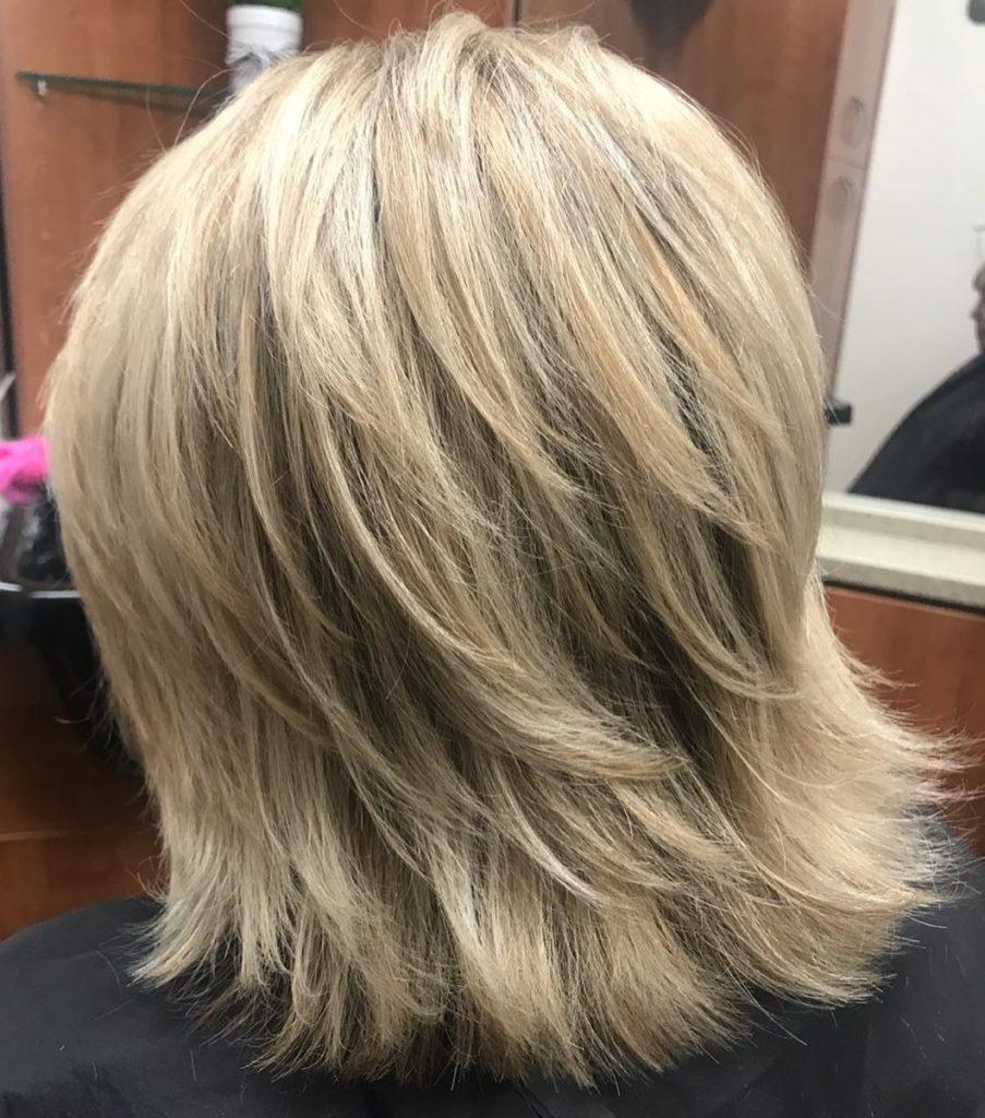 Medium Shag Haircuts trends 2020 platinum blonde color
