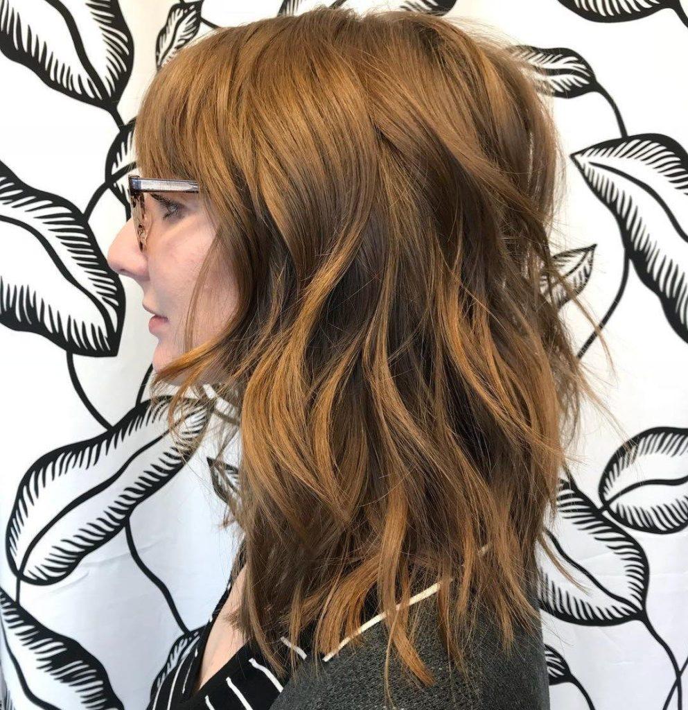 Medium Shag Haircuts trends 2020 sparkling amber color