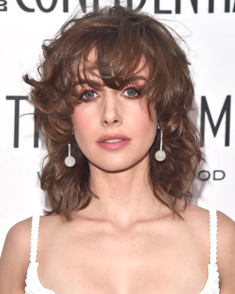 Medium Shag Haircuts trends 2020 sparkling amber color highlights