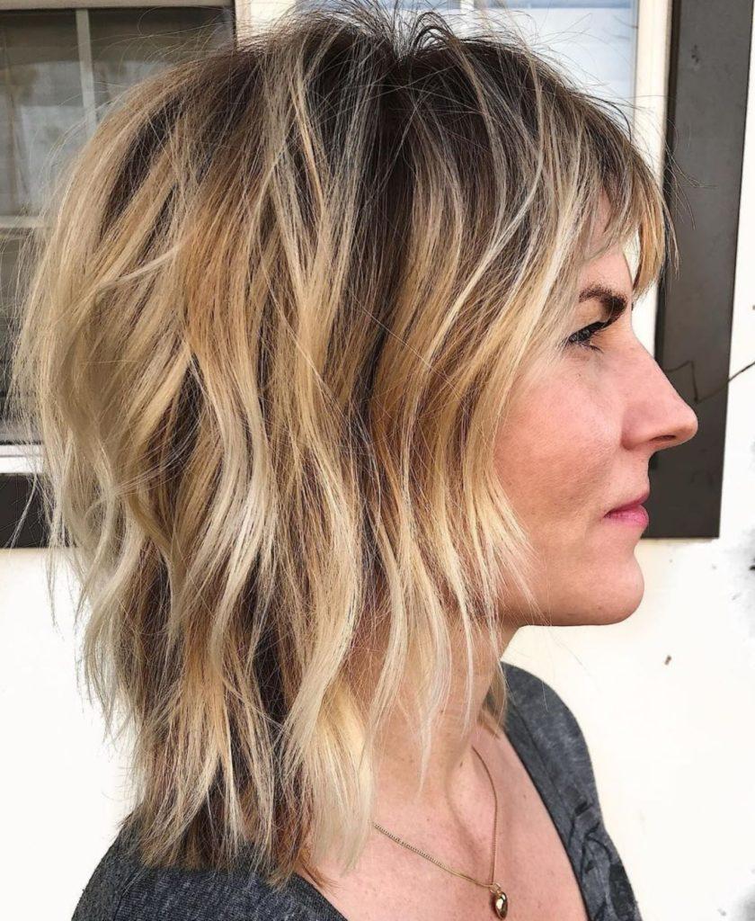Medium Shag Haircuts trends 2020 wavy Blonde Highlights