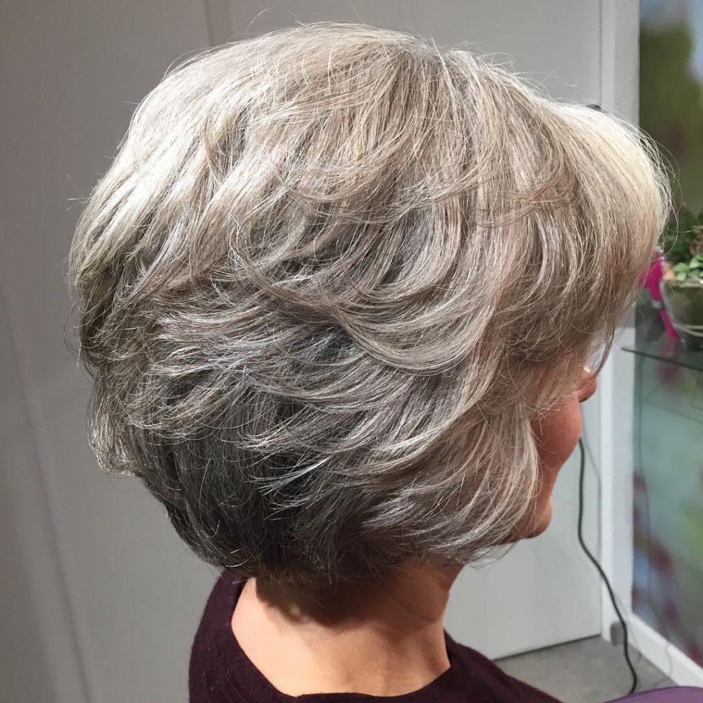 Short Highlights Hairstyles trends 2020 Ash Gray Hair 1