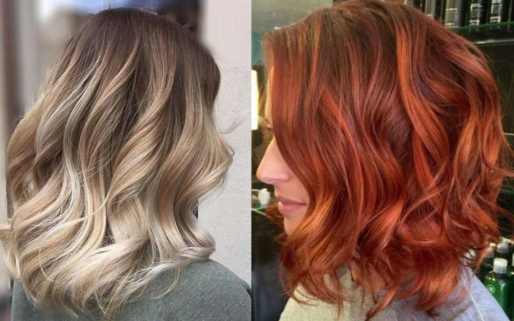 Short Highlights Hairstyles trends 2020 Blonde to red balayage