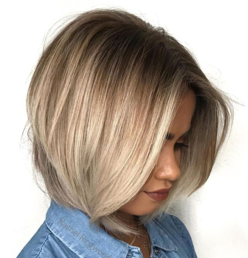 Short Highlights Hairstyles trends 2020 Gradient blonde 3