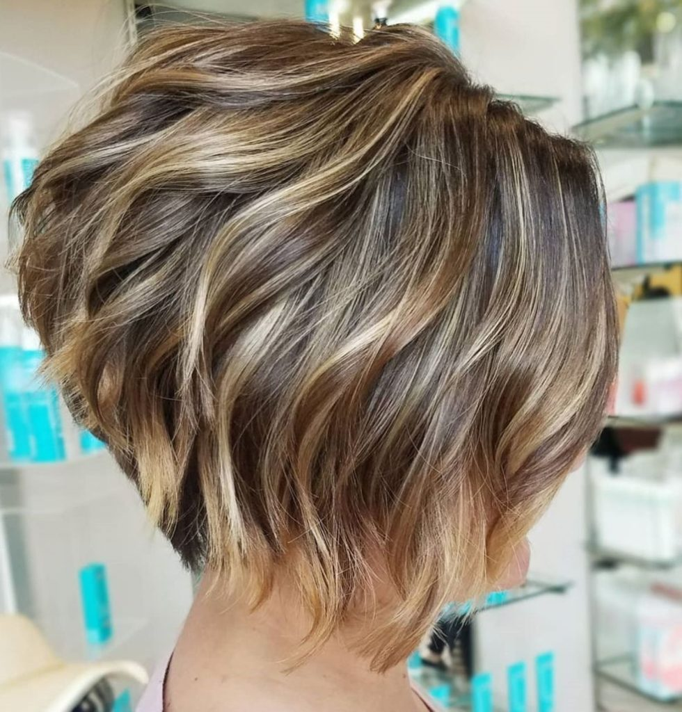 Short Highlights Hairstyles trends 2020 Light brown