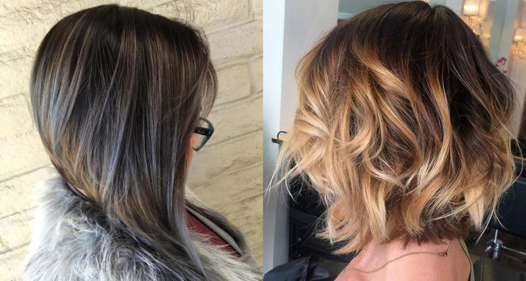 Short Highlights Hairstyles trends 2020 ash gray and baby blonde colors