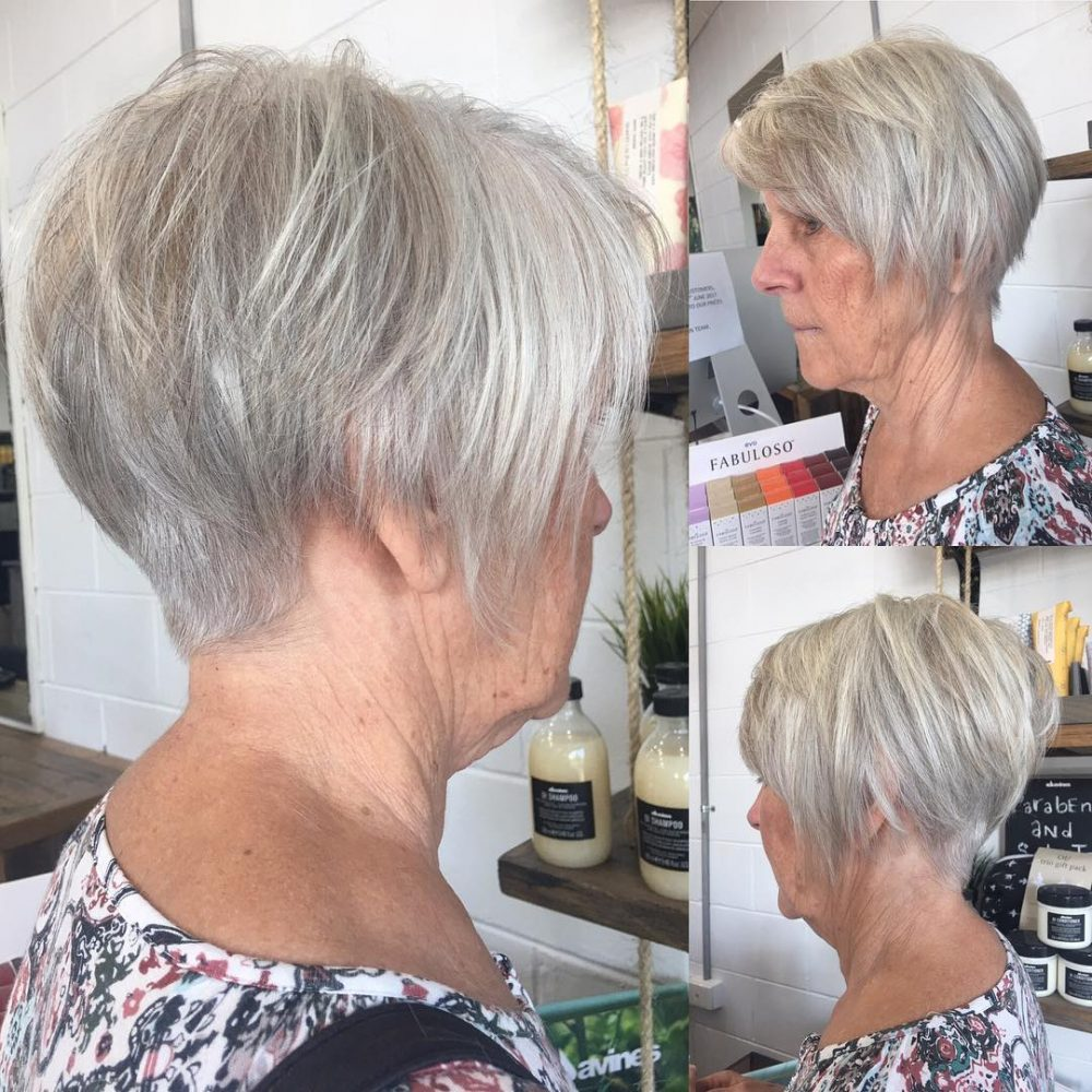 Short Highlights Hairstyles trends 2020 ash gray lowlights