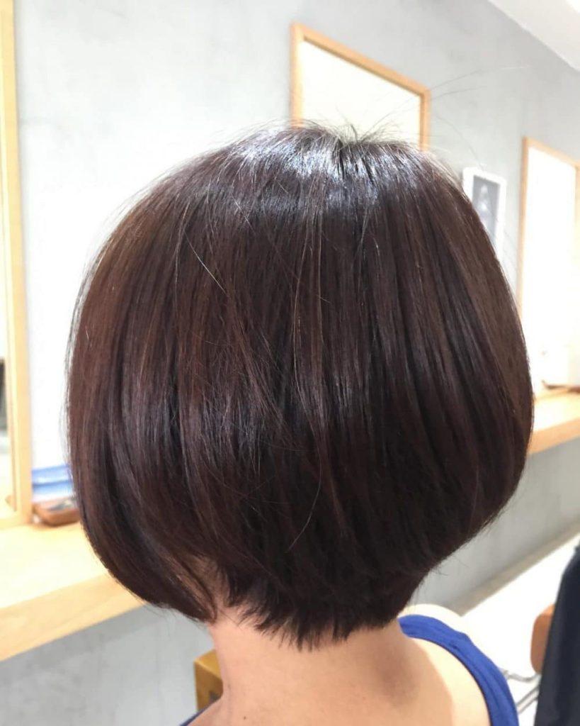 Short Highlights Hairstyles trends 2020 burgundy lowlights