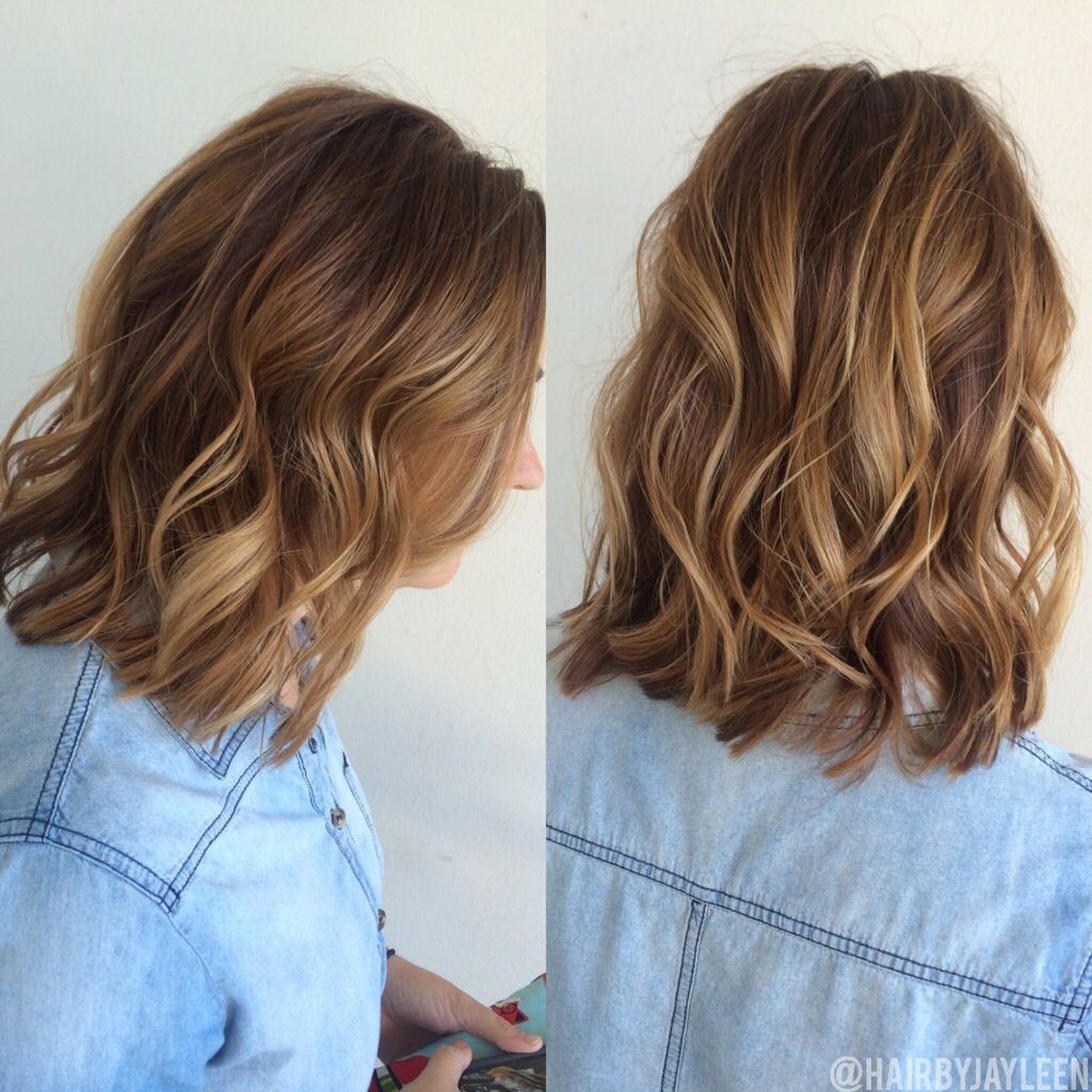 Short Highlights Hairstyles trends 2020 chestnut blonde hues