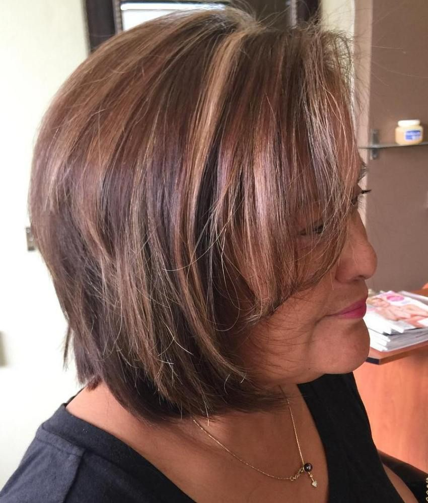 Short Highlights Hairstyles trends 2020 chestnut blonde