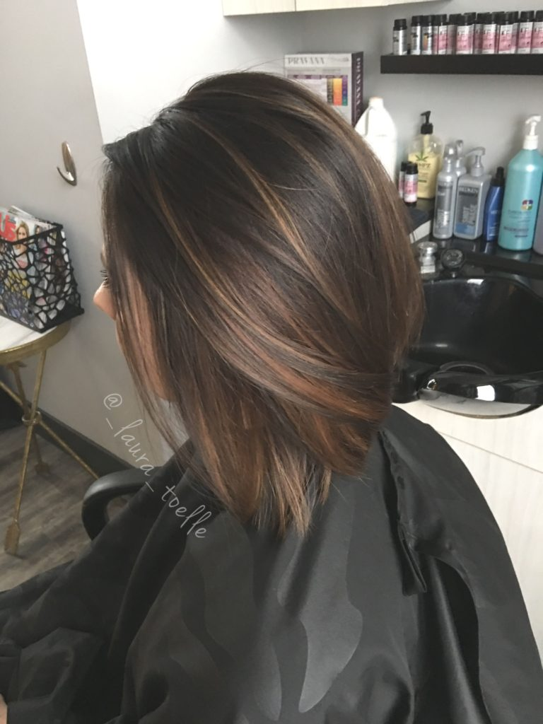 Short Highlights Hairstyles trends 2020 medium brown