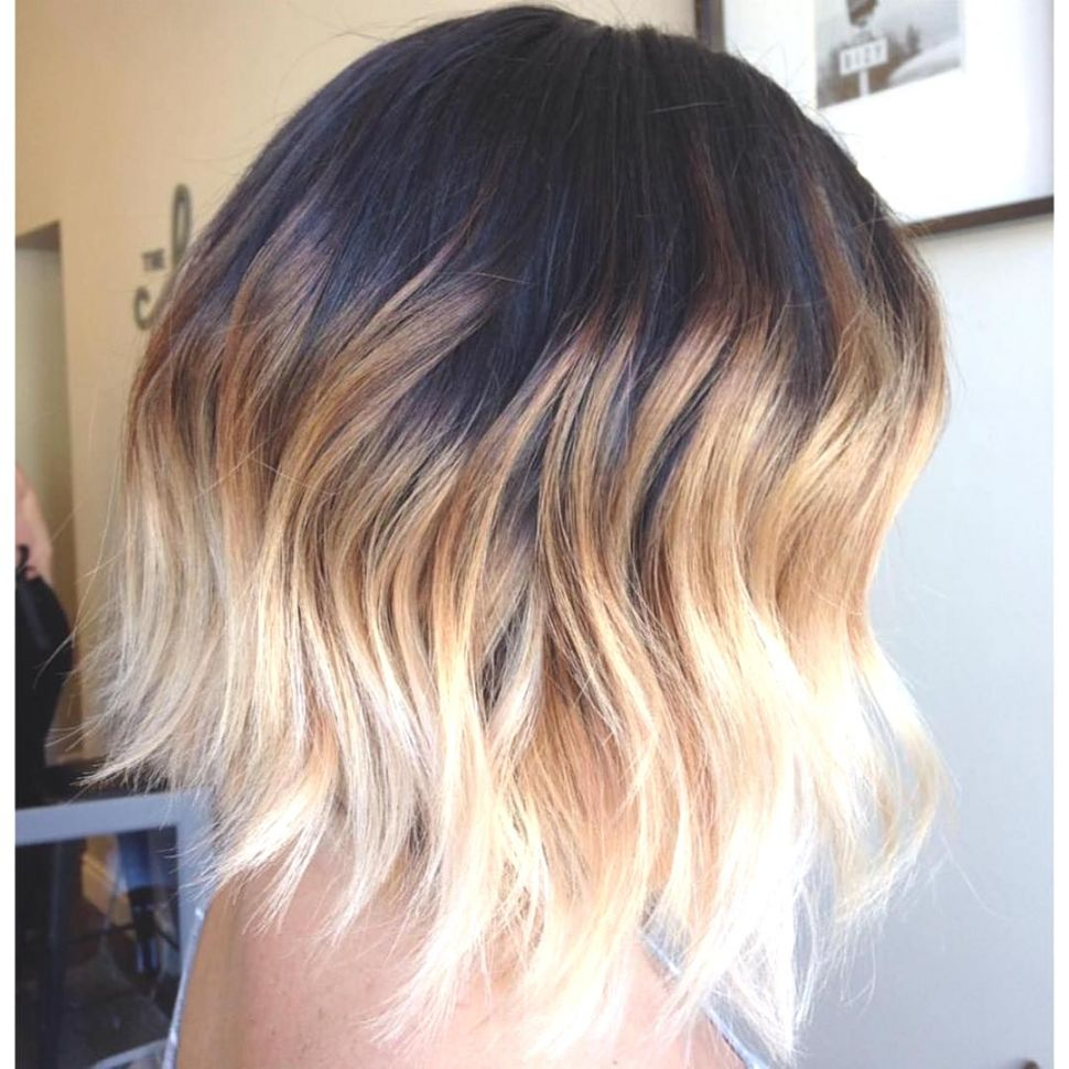 Short Ombre Hairstyles trends 2020 Black to soft blonde shade
