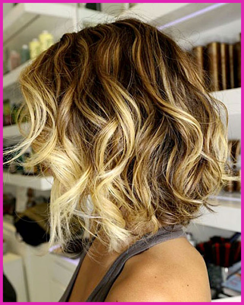 Short Ombre Hairstyles trends 2020 Blonde Shades curls