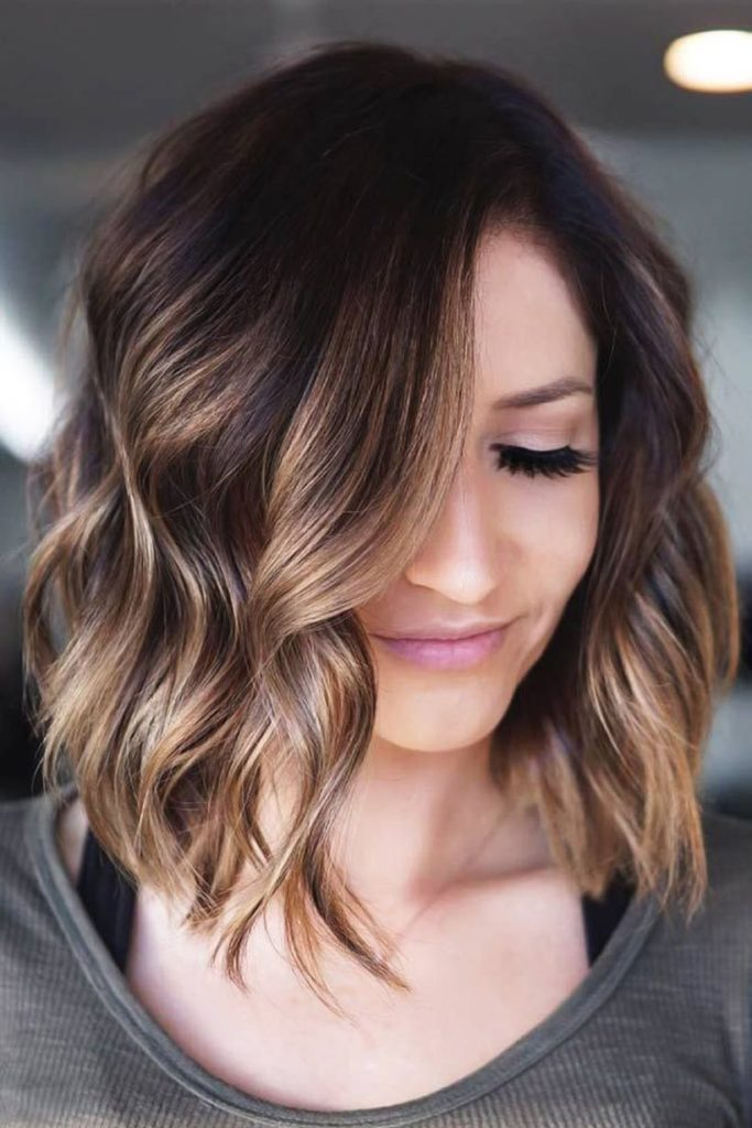 Short Ombre Hairstyles trends 2020 Dark brow to blonde color