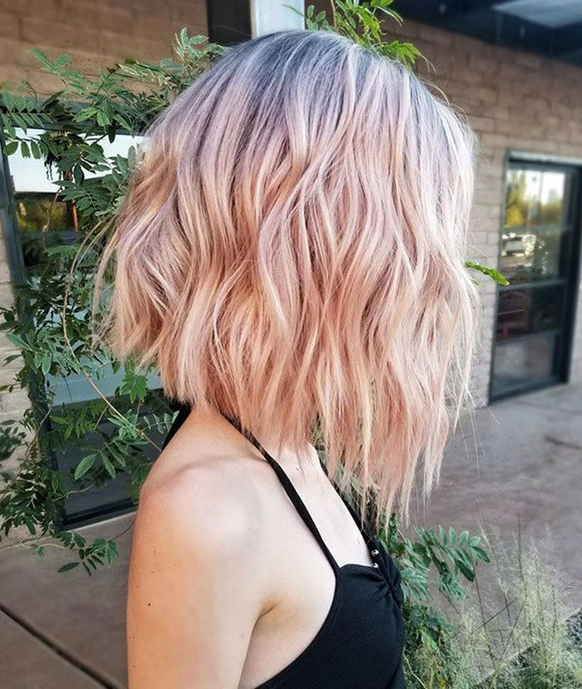 Short Ombre Hairstyles trends 2020 Ombré Blonde to pink