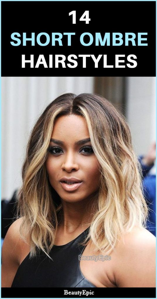 Short Ombre Hairstyles trends 2020 blonde caramel