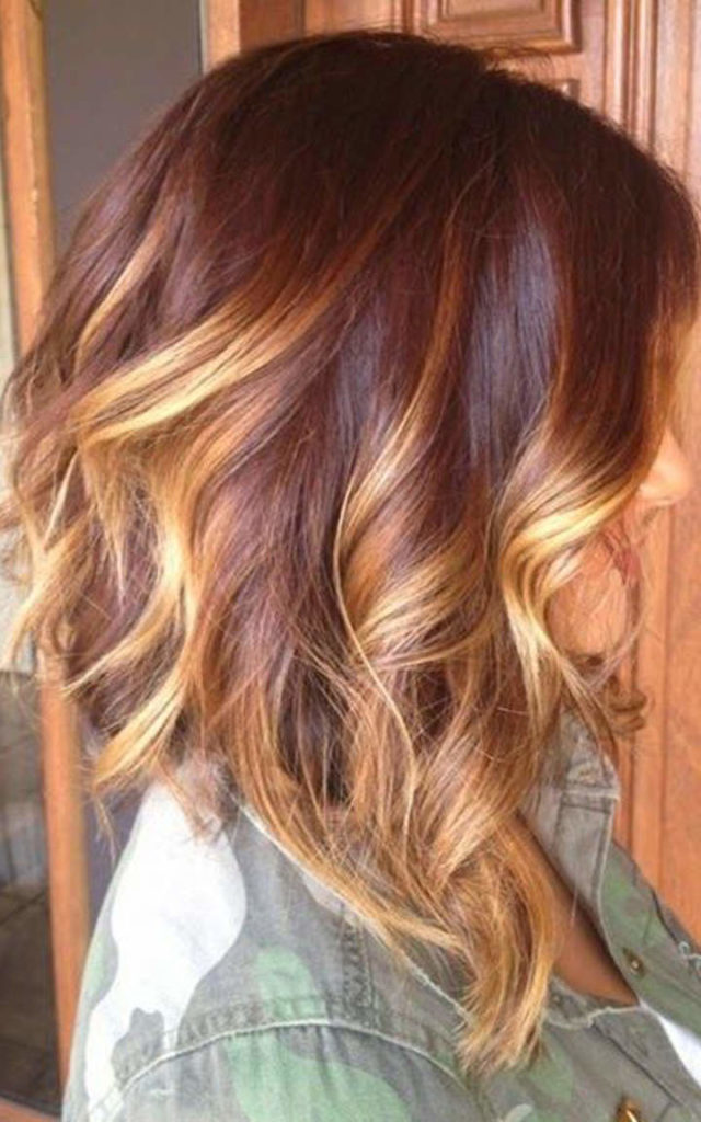 Short Ombre Hairstyles trends 2020 brown to blonde ombré