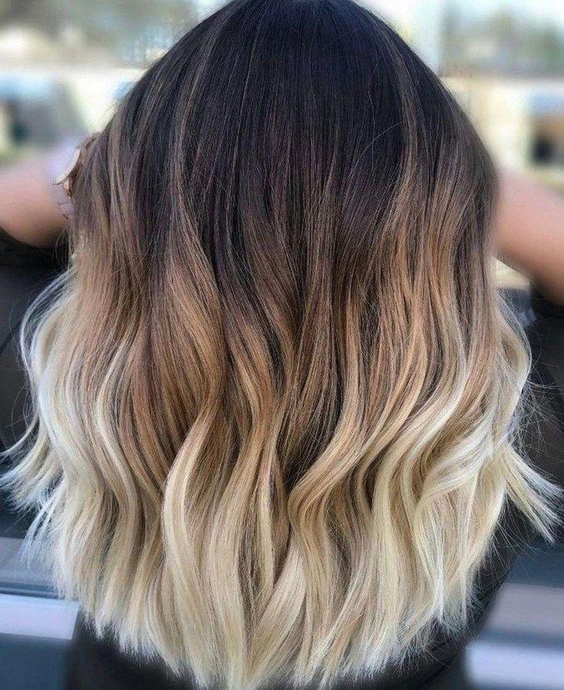 Short Ombre Hairstyles trends 2020 dark to blonde