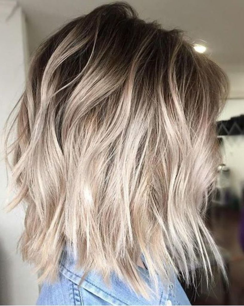 Short Ombre Hairstyles trends 2020 dark to platinum blonde