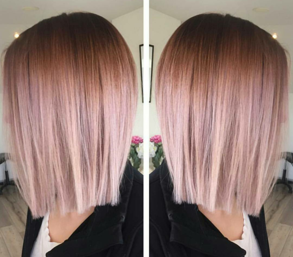 Short Ombre Hairstyles trends 2020 pink