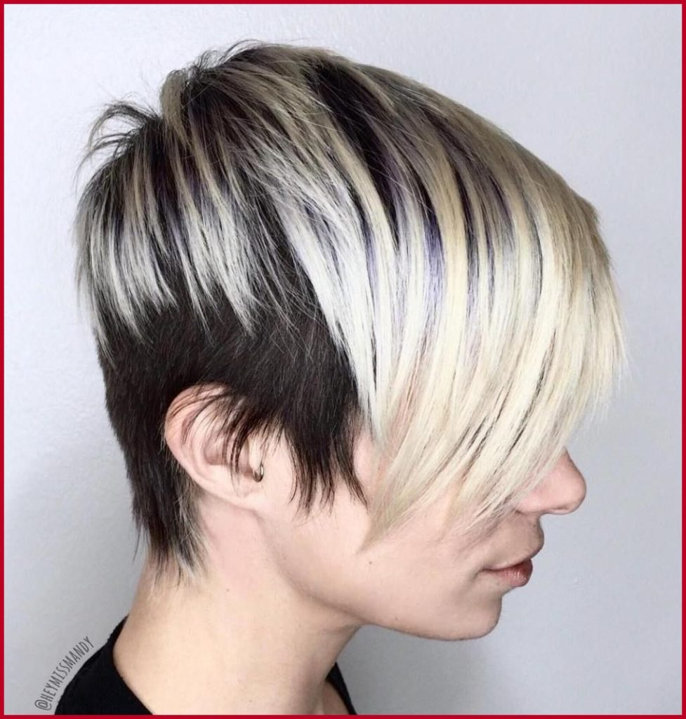 Short Ombre Hairstyles trends 2020 pixie platinum blonde color
