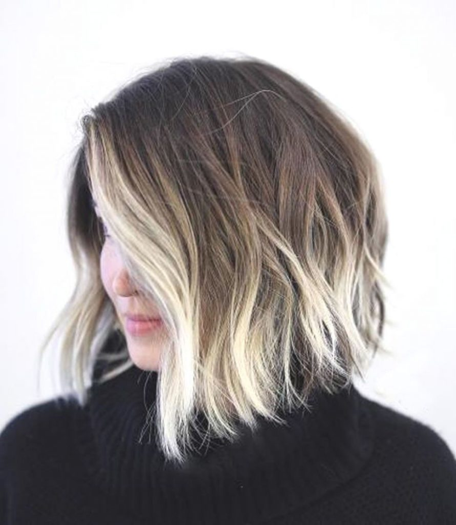Short Ombre Hairstyles trends 2020 subtle blonde color shades