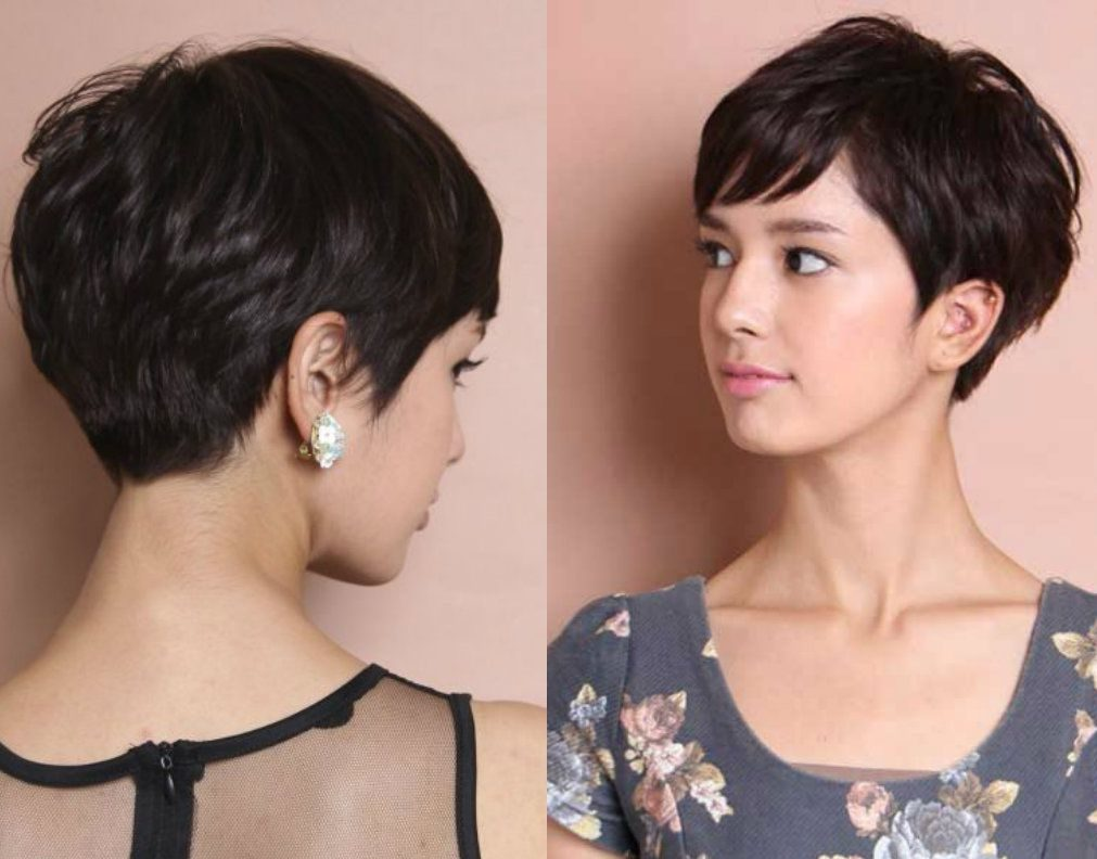 Short Pixie Haircuts trends 2020 Brown hair